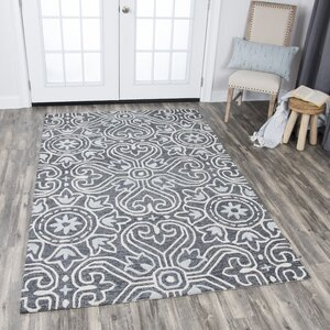 Nordmeyer Hand-Tufted Gray Area Rug