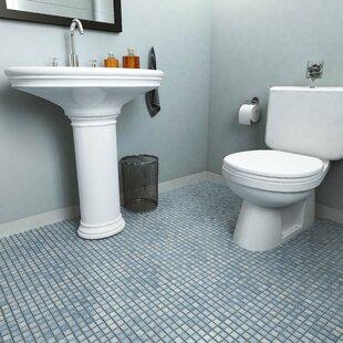 Bathroom Floor Tile Blue. Geneva 1  x Porcelain Mosaic Tile in Blue Cobalt Floor Wayfair