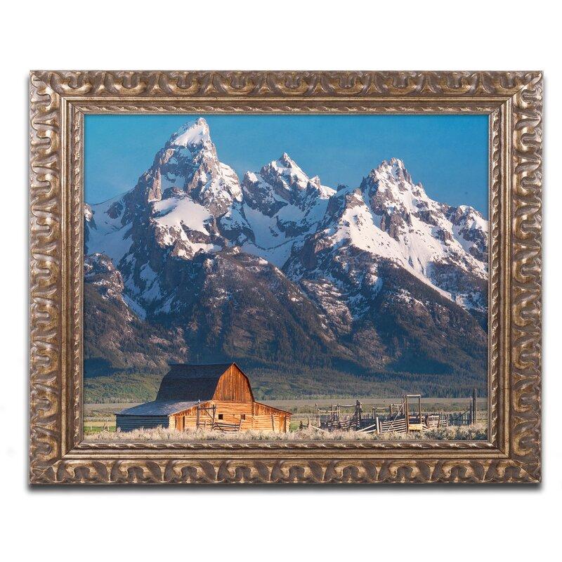 'John Moulton Barn' Framed Photographic Print on Canvas