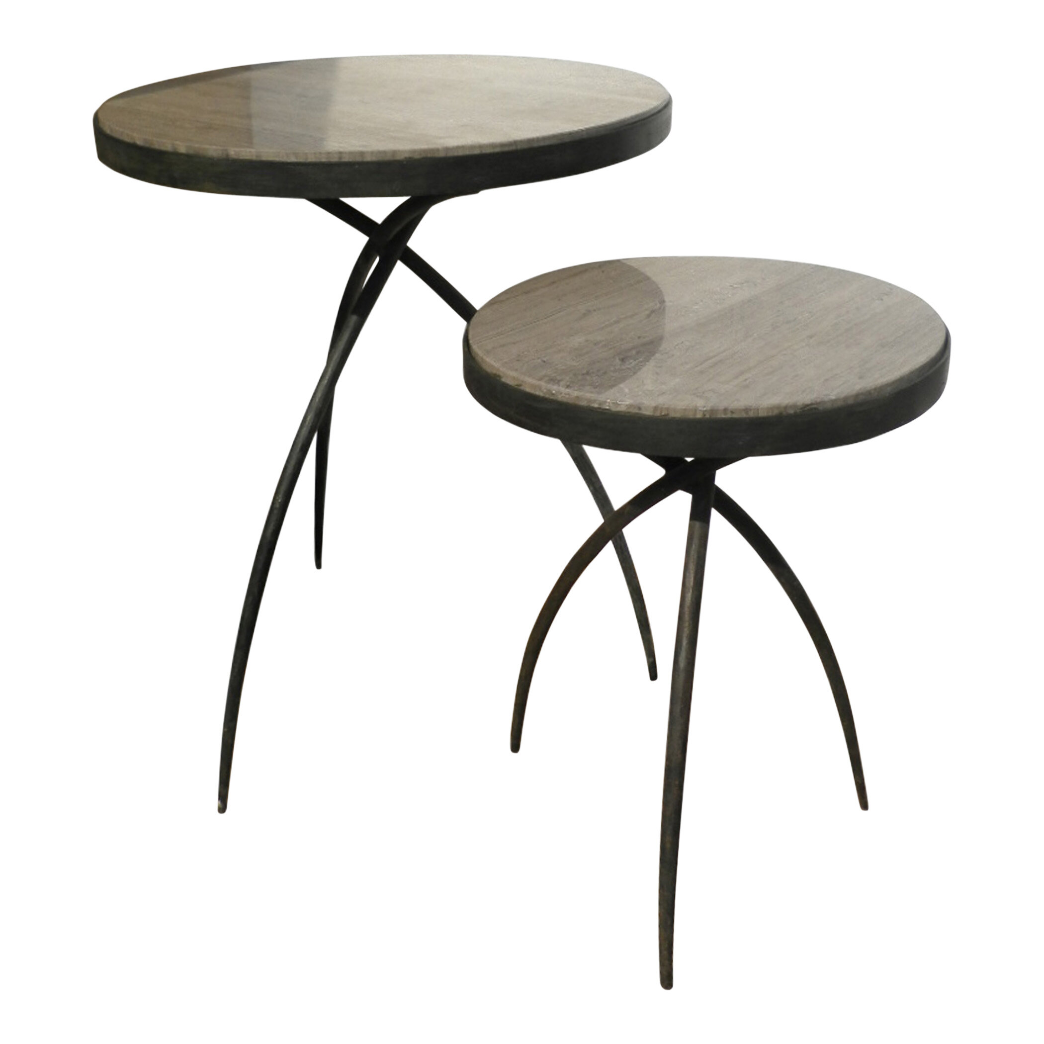 Incroyable Tripod End Table With Marble Top