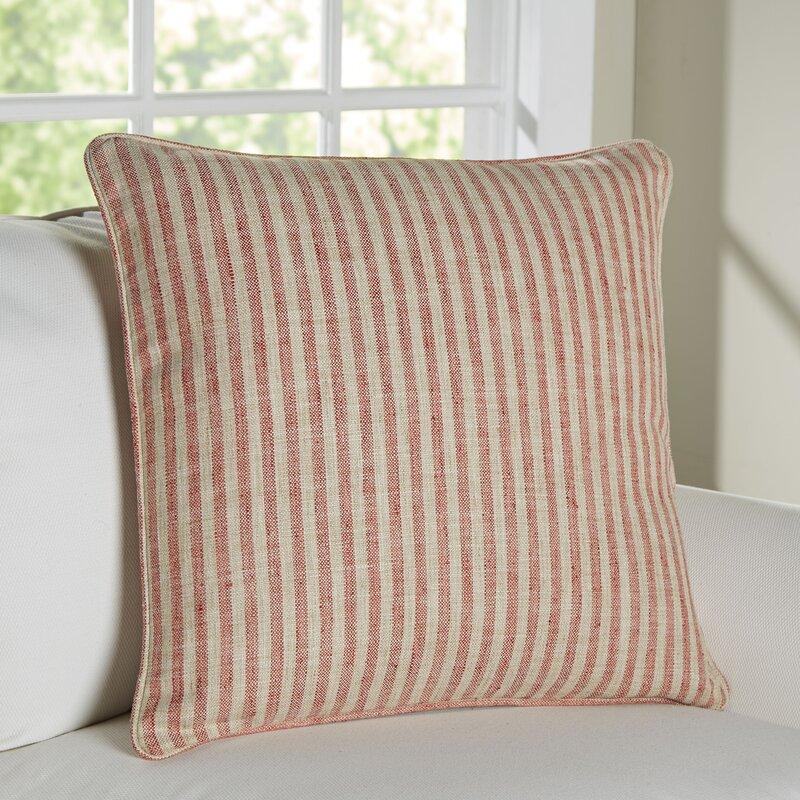 Adams Ticking Outdoor Throw Pillow