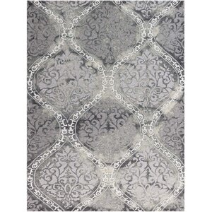 Pavilion Silk Hand-Tufted Gray Area Rug