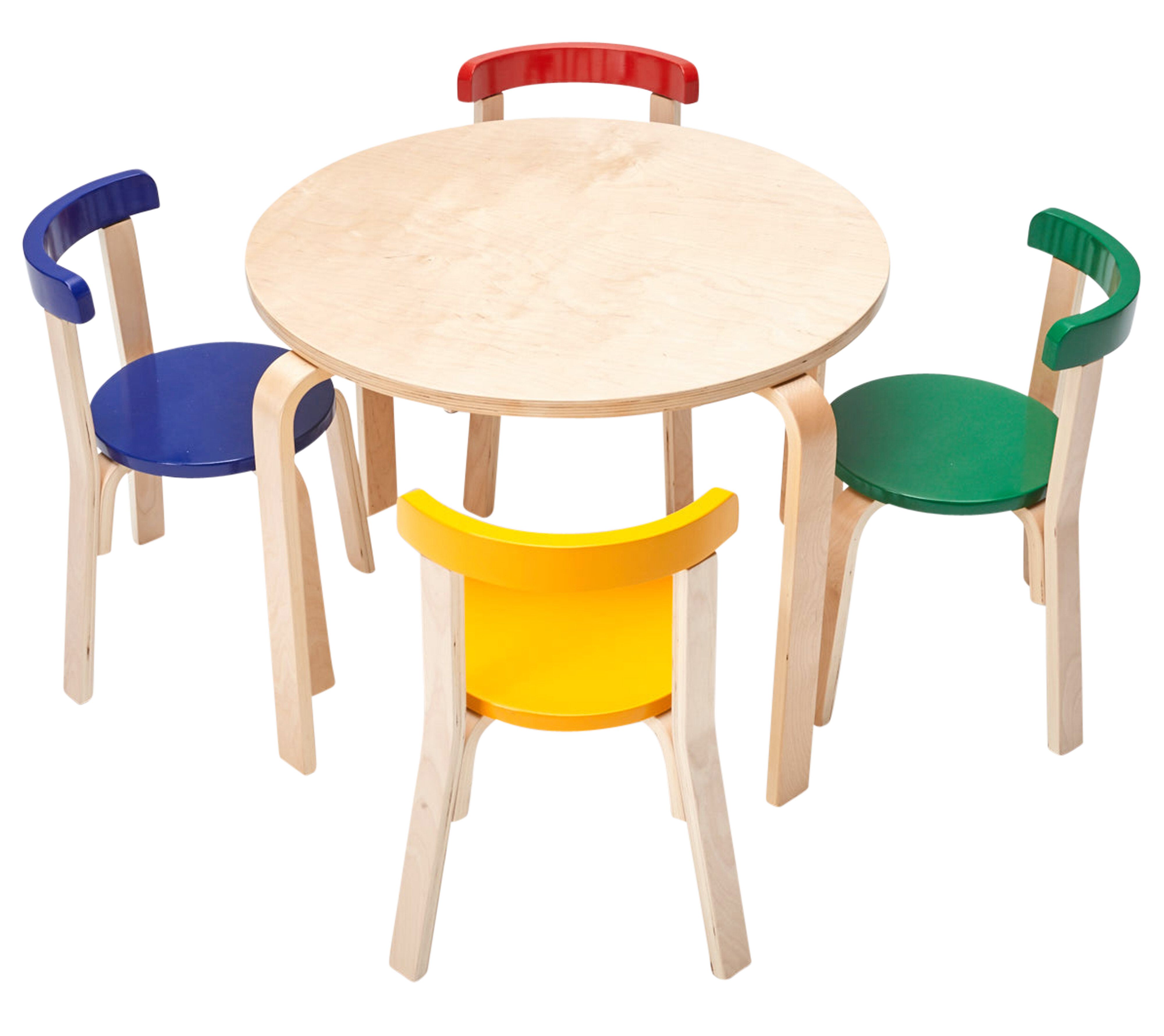 Ecr4kids Bentwood Kids 5 Piece Round Table And Chair Set Wayfair
