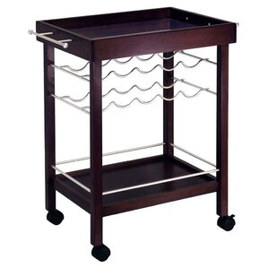 Scenic 10 Bottle Wine Bar Cart by Red Barrel Stu..