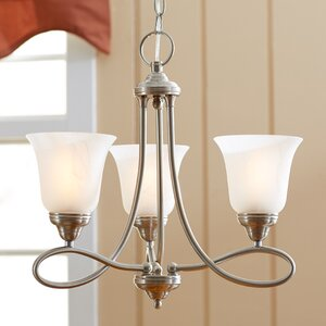 Norwood 3-Light Shaded Chandelier
