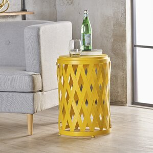 Ramiro Indoor Iron End Table by Varick..