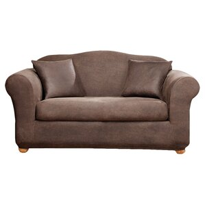 Stretch Leather Box Cushion Sofa Slipcover by Sure Fit