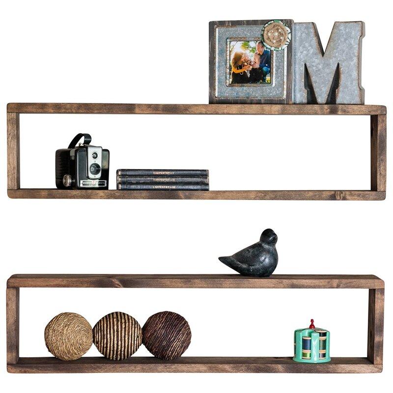 Union Rustic Perdomo Stackable Long Box Wall Shelf Wayfair