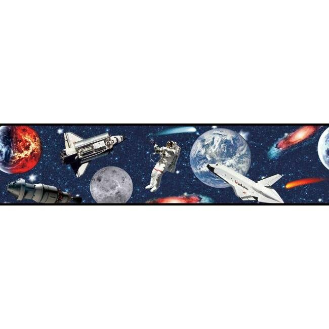 York Wallcoverings Young At Heart Blast Off 15 L X 9 W Wallpaper Border Wayfair