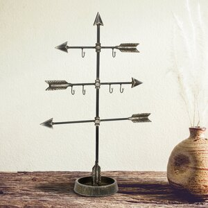 Stonebriar Metal Arrow Jewelry Stand