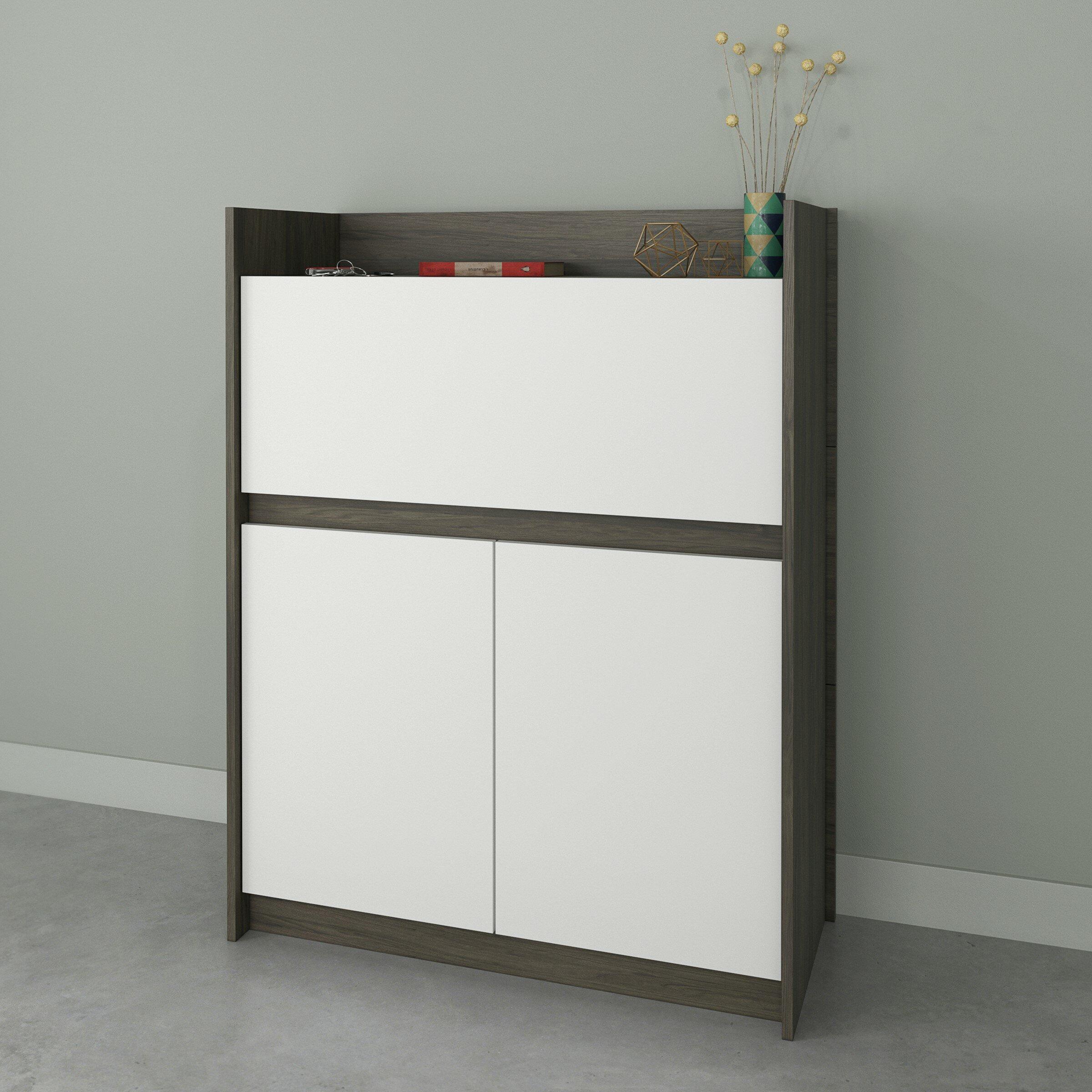 Ebern Designs Persephone Secretary Desk With Hutch Reviews Wayfair