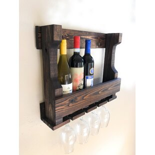 Lower West Side Holder 6 Bottle Wall Mounted Wine Rack
