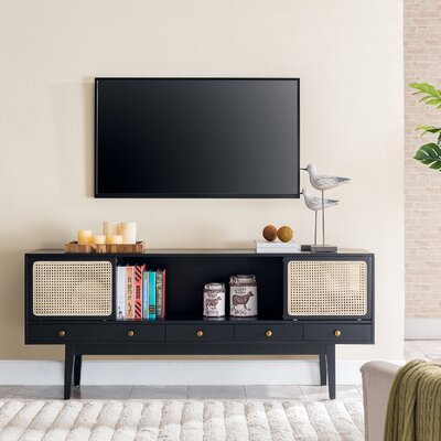 George Oliver Dwight TV Stand for TVs up to 70 Color: Black/Natural