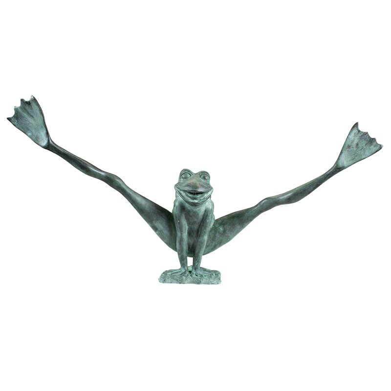 Crazy Legs Leap Frog Garden Statue