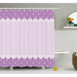 Destin Old Lace Patterns Polka Shower Curtain