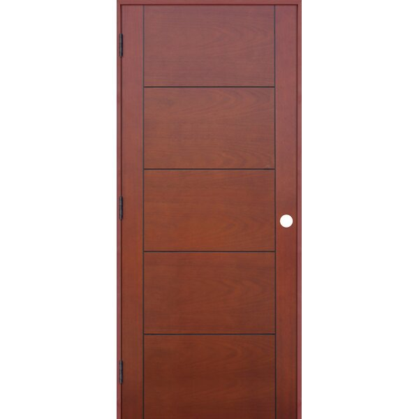 CreativeEntryways Contemporary 5 Panel Prefinished Hollow Flush ...