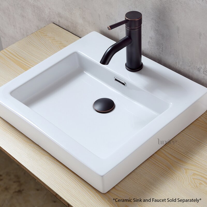 Faucet Vessel 1 625 Pop Up Bathroom Sink Drain With Overflow