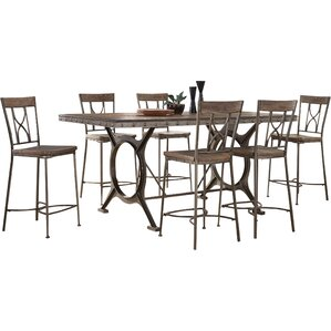 Ligia 7 Piece Count Height Dining Set by 17 Stor..