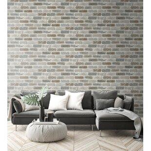 Brick Wood Stone Chevron Herringbone Wallpaper You Ll Love