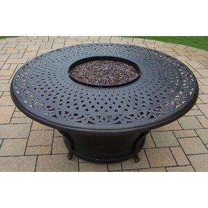 Charleston Aluminum Propane Fire Pit Table