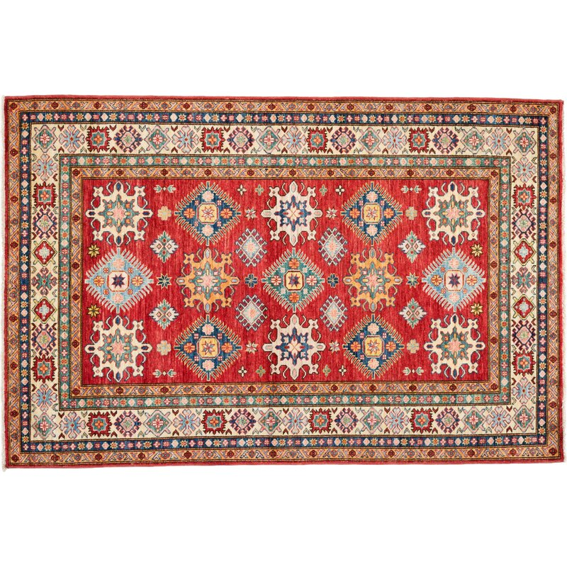 Solo Rugs One Of A Kind Kazak Hand Knotted Red Area Rug Perigold