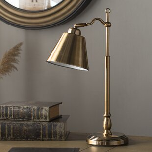 Polished brass table lamps wayfair hamilton 19 antique brass arched table lamp aloadofball Image collections