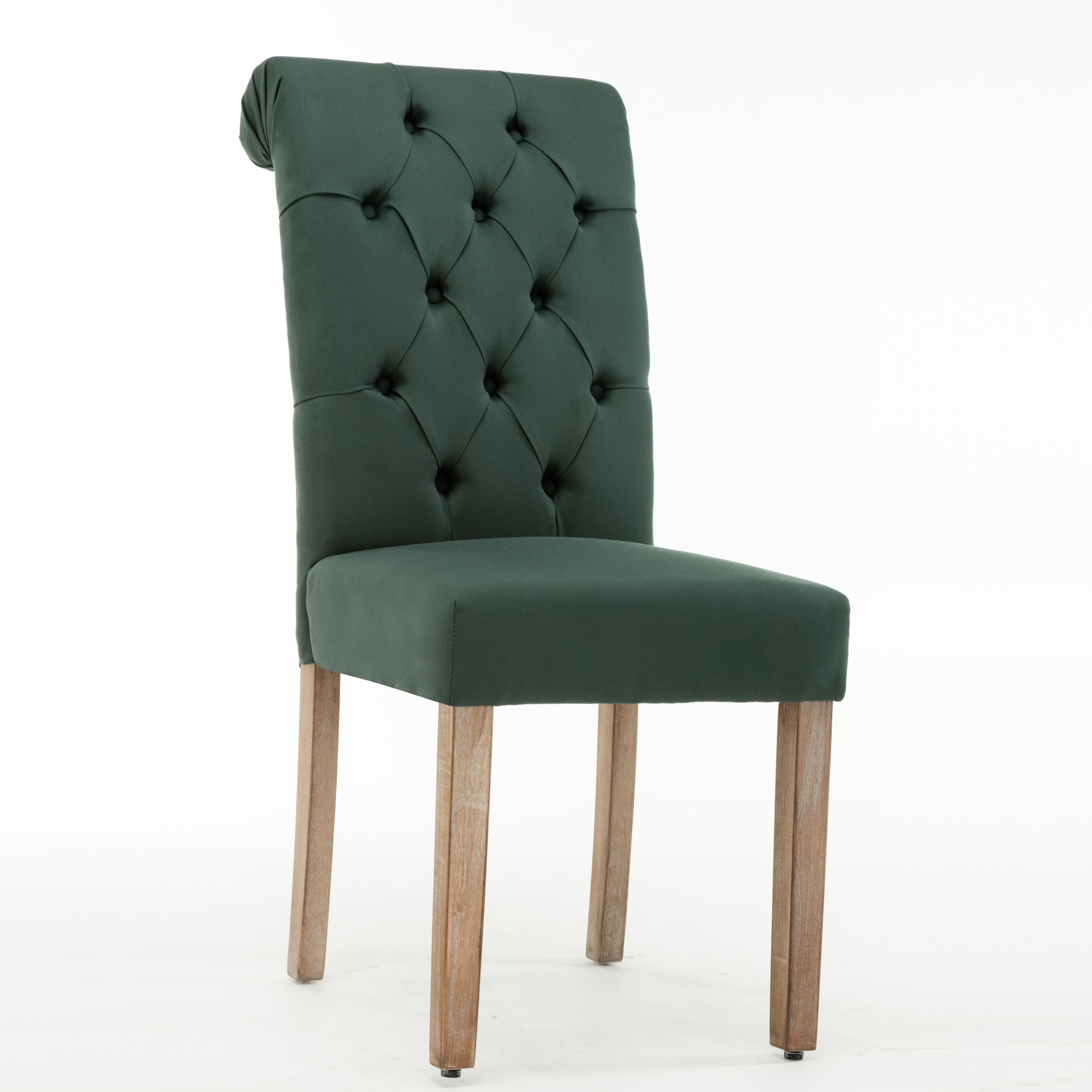 upholstered tufted dining chairs contemporary dining ansonia roll top tufted modern upholstered dining chair reviews joss main