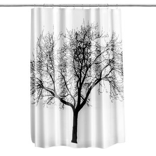 Black Tree Shower Curtain Wayfair