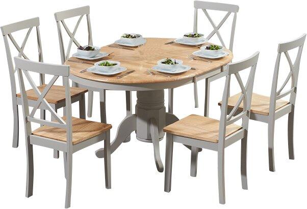 Kustenhaus Essgruppe Bartett Mit Ausziehbarem Tisch Und 6 Stuhlen