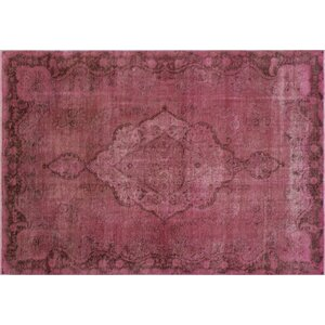 One-of-a-Kind Distressed Munira Hand-Knotted Purple Area Rug