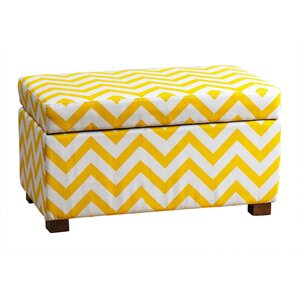 Bryson Small Chevron Storage Ottoman by Latitude Run
