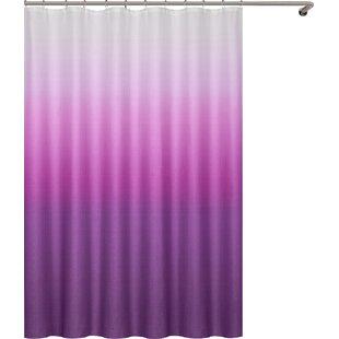 Purple Fabric Shower Curtain