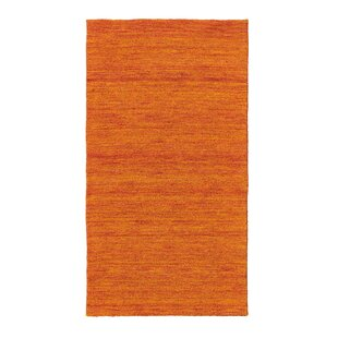 Crawfordsland Wool Orange Rug by Charlton Home