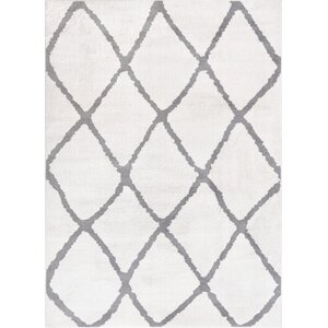 Patterson Modern Moroccan Trellis Gray Area Rug