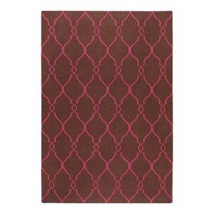 Lennox Hand-Woven Chocolate/Fuchsia Area Rug