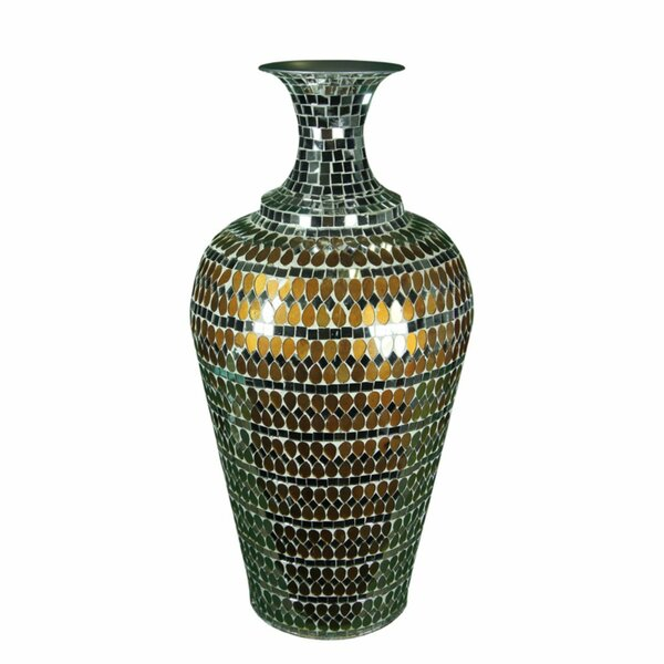World Menagerie Baxter Glistening Mosaic Floor Vase Wayfair