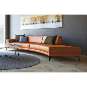 Shandel Italian Leather Modular Sectional  sc 1 st  Wayfair : modular sectional leather - Sectionals, Sofas & Couches