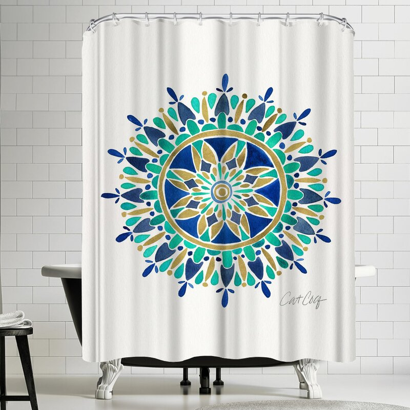 East Urban Home Mandala Shower Curtain