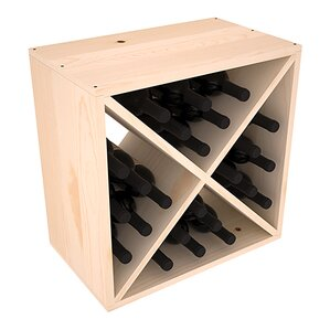 Karnes Pine X-Cube 24 Bottle Tabletop Wine Rack by Red Barrel Studio