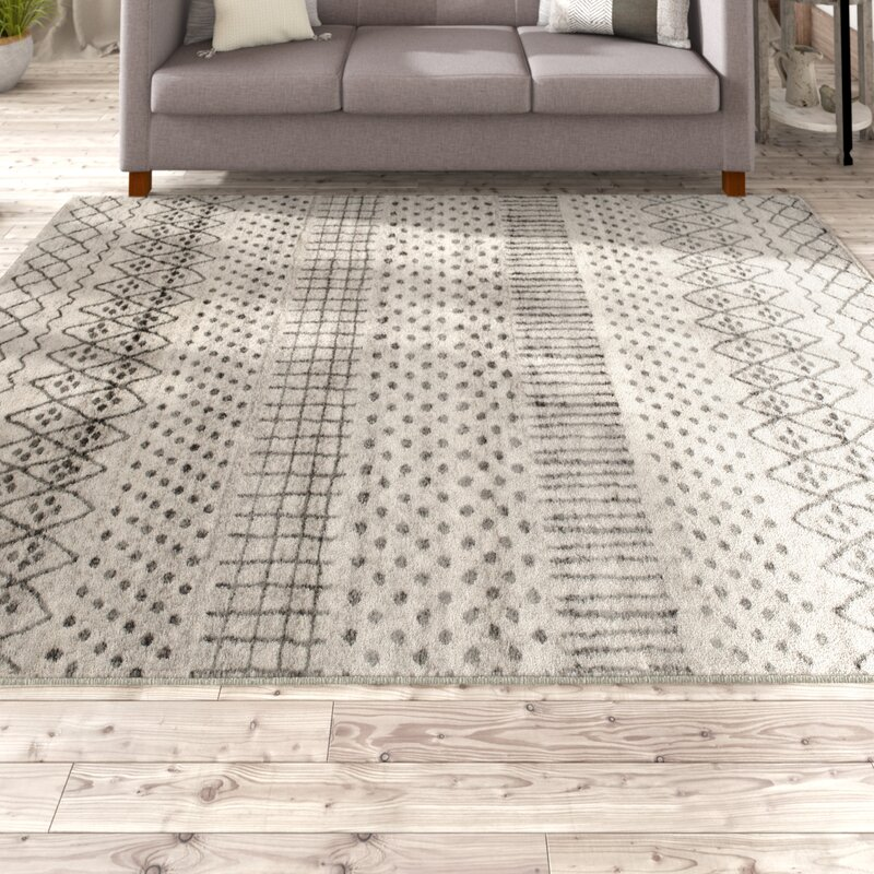 Cosima Ernest Birch White Sterling Gray Area Rug