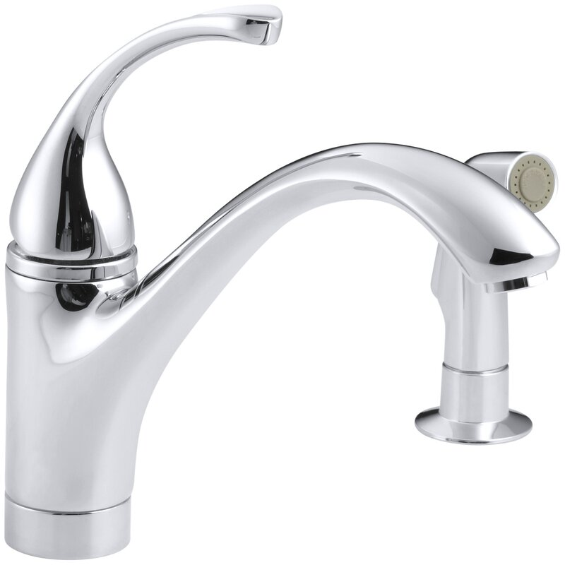 K 10416 G Cp Bn Kohler Forte 2 Hole Kitchen Sink Faucet With 9 1 16