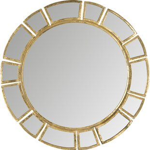 554bd13473ea Birksgate Round Antique Gold Patina Sunburst Wall Mirror