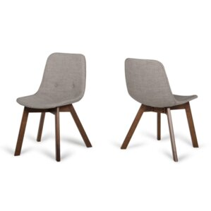 Bridget Sesame Upholstered Dining Chair (Set of 2) by Corrigan Studio