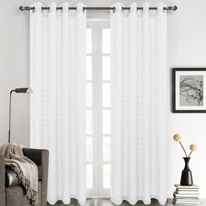 Nilsson Plaid & Check Sheer Grommet Curtain Panels (Set of 2)