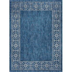 Mann Traditional Indigo Indoor/Outdoor Area Rug