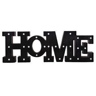 led home letter wall decor
