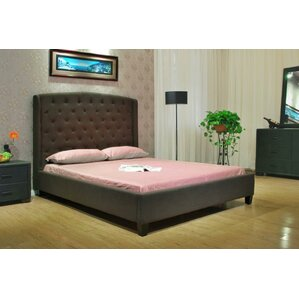 Queen Upholstered Panel Bed by Greatime