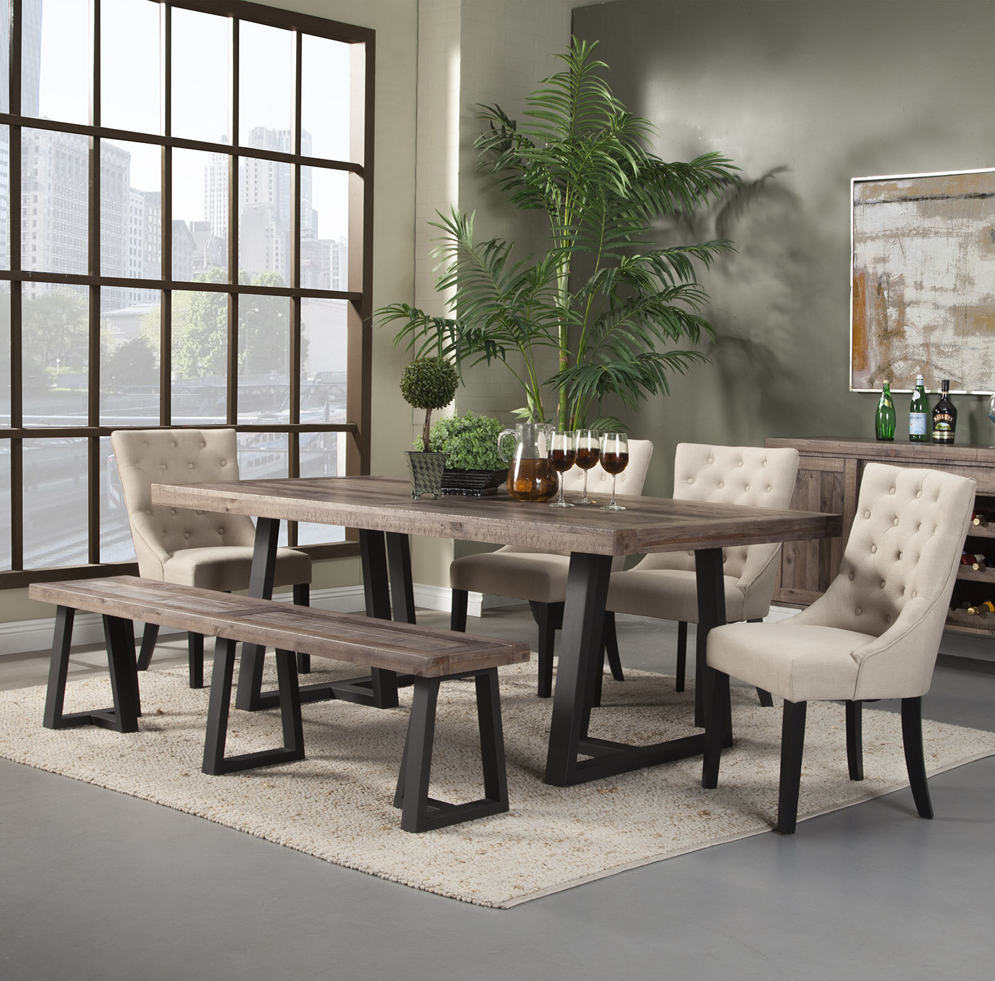 products furniture piece bench table with for by b dining six chair kitchen set liberty and chairs