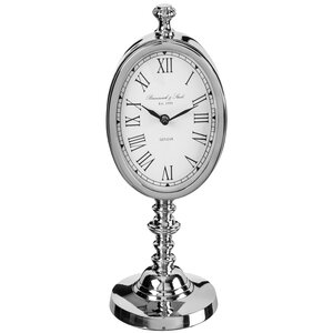 Polished Nickel Stand Tabletop Clock