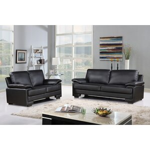 Kristin Leather 2 Piece Living Room Set by Zipcode Design